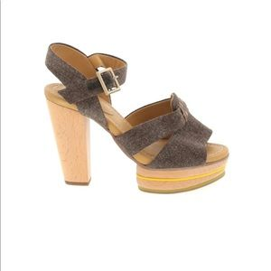See by Chole chunky canvas heels